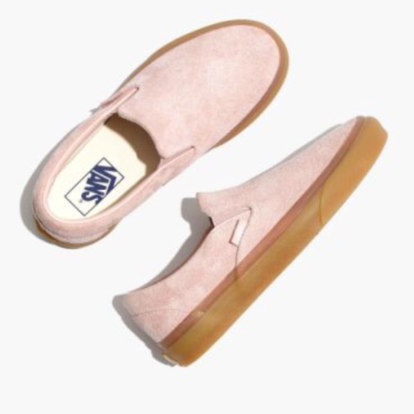 f0b252a7068 Vans Fuzzy Suede Classic Slip-On Sepia Rose Shoes